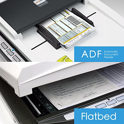 Plustek PL4080 Speed + All in one. Document Size Flatbed scan Design for Multi Folded documents.