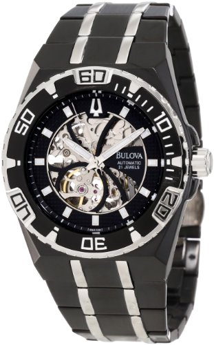 Bulova Men's 98A108 Marine Star Mechanical Hand-Wind Automatic Black Dial Watch