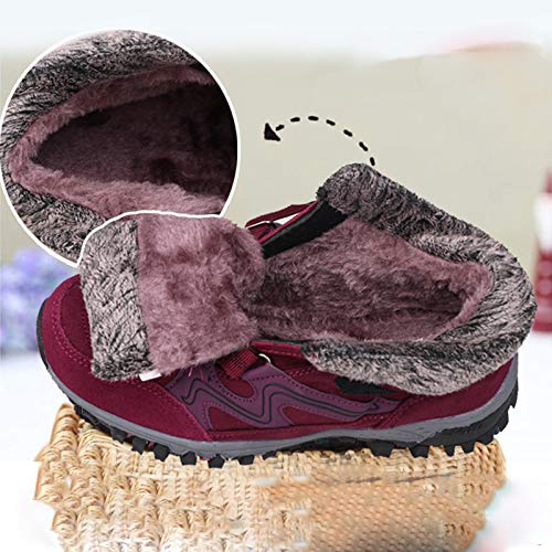 Shoes Aged Women Warm sho Mother Elderly Cotton Shoes Hiking Men And Shoes casual Plus Sports Winter Outdoor Velvet Jujube Shoes Middle UXqWtP