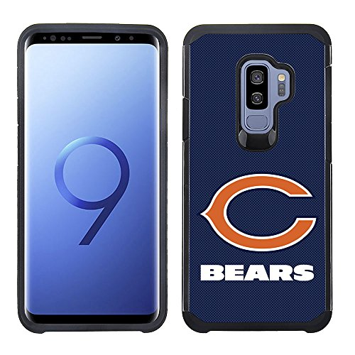 Prime Brands Group Textured Team Color Cell Phone Case for Samsung Galaxy S9 Plus - NFL Licensed Chicago Bears