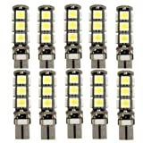Best to Buy (12-Pack) (2nd Generation) T10 921 194 13-5050 SMD Wedge LED Bulb lamp Super Bright Warm White DC 12V (Warm White)