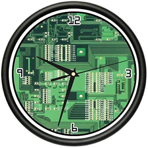 SignMission Computer Wall Clock Geek Hardware Gift, 1computer Circuit Board