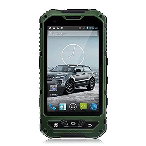 Hipipooo 4 Inch IP68 Waterproof 3G Rugged Android 4.4.2 Smartphone 1.2GHz Quad Core Dual Sim Dustproof Shockproof Capacitive Screen GPS 5MP With NFC-Green - Waterproof Phone Dual Sim