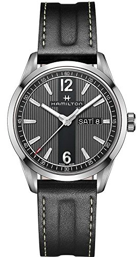 Hamilton Broadway Day Date Quartz H43311735 Black / Black Stainless Steel Analog Quartz Men's Watch