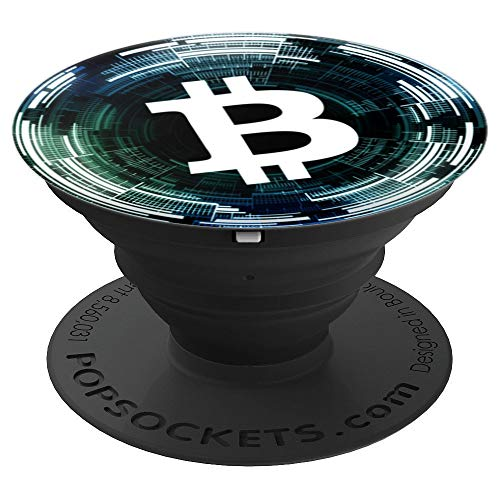 Bitcoin Cryptocurrency Financial Market Buy Sell Dollar Bull - PopSockets Grip and Stand for Phones and Tablets