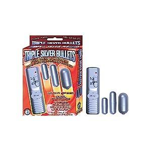 Novelties By Nass-walk Inc Triple Silver Bullets, Silver