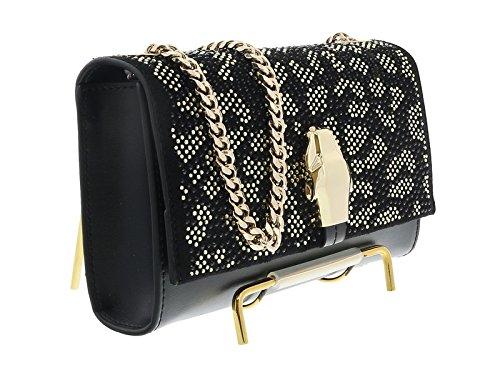 d554147deca2 Class Roberto Cavalli Black/Gold RSVP Glam 001 Small shoulder bag:  Amazon.ca: Shoes & Handbags