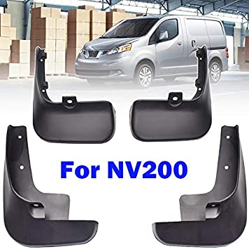XUKEY For NV200 Vanette Evalia 2010-2019 Set Molded MudFlaps Mud Flaps Mudguards Splash Guards Fender Dirty Guards Front Rear