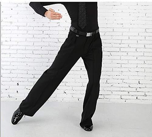 ダンス用パンツ ツータックベルトループ付き B07SN3FXQ6  Large