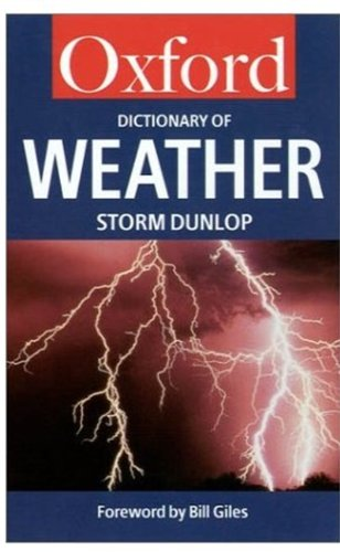 A Dictionary of Weather (Oxford Quick Reference) ebook