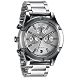 Nixon A354130 camden chrono silver dial silver stainless steel band women watch NEW