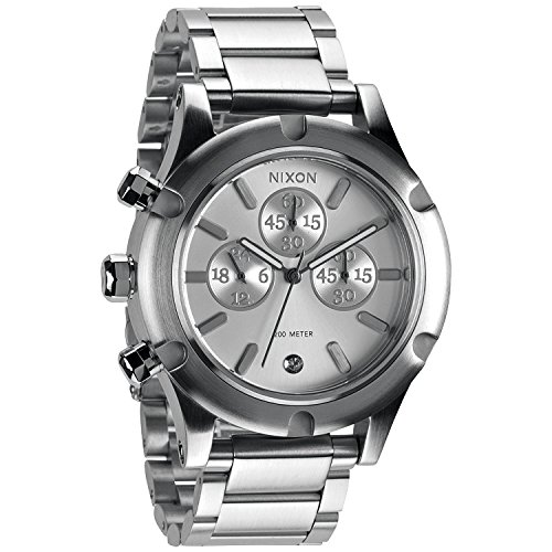 Nixon A354130 camden chrono silver dial silver stainless steel band women watch NEW by NIXON