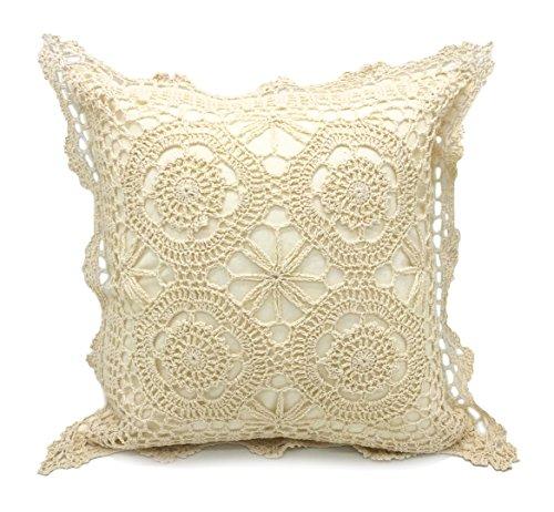 (Fennco Styles Handmade Crochet Lace Cotton Tablecloth (17