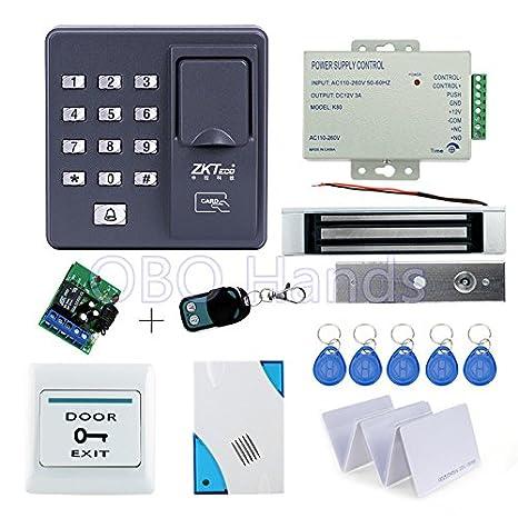Kit completo biométrico de la huella digital de control de acceso X6 + 180kg cerradura magnetica