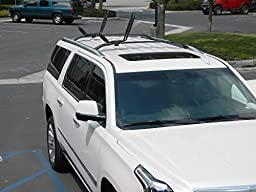 ToughSteel® Universal Black J Shape Steel Kayak Canoe Boat Paddle Board Surfboard Snowboard Ski Roof Rack Car SUV Jeep Top Mount
