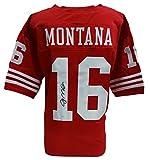 Joe Montana Signed Red Custom Football Jersey JSA ITP