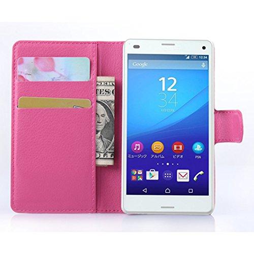 Funda Sony Xperia Z4 mini,Manyip Caja del teléfono del cuero,Protector de Pantalla de Slim Case Estilo Billetera con Ranuras para Tarjetas, Soporte Plegable, Cierre Magnético G