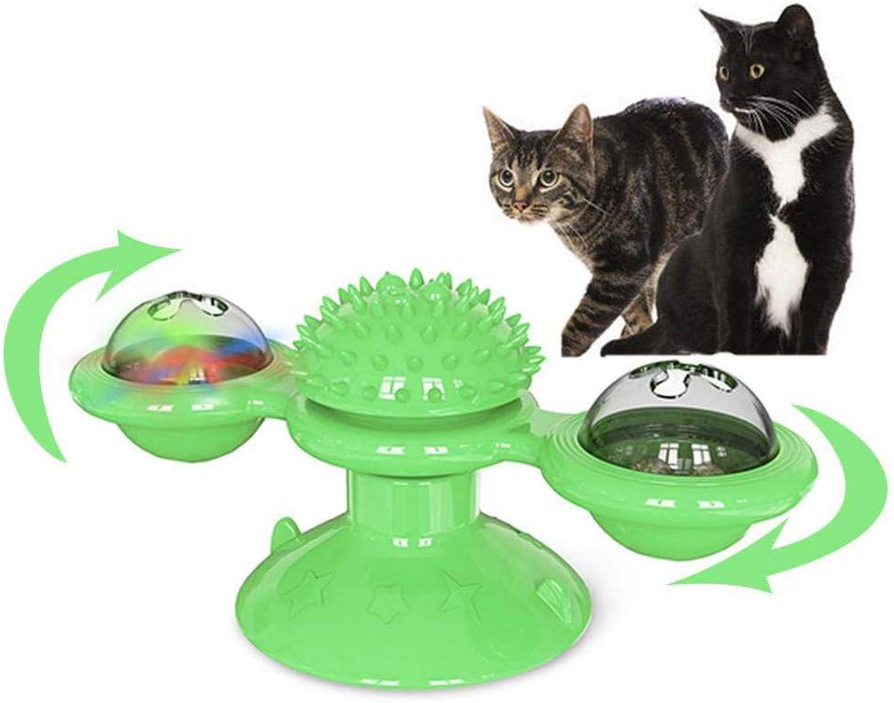 LI-SCARF Molino de viento juguete giratorio para gatos, juguete interactivo con hierba gatera para rascar cosquillas para mascotas, juguetes para gatos: Amazon.es: Productos para mascotas