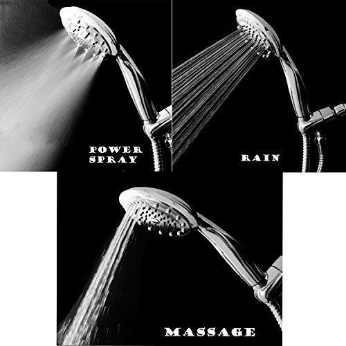 hot sale 2017 Deliao Hand Shower Set Handheld ShowerHead With 79-Inch Shower Hose & Shower Head Holder Bracket Wall Mount Shower Arm Full Panal Chrome