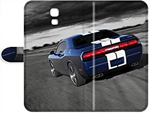 April F. Hedgehog's Shop 2015 New Super Strong Dodge Challenger SRT8 Leather Leather Case Cover For Samsung Galaxy S4 2323905PH145485245S4