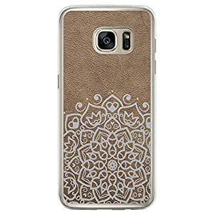 Loud Universe Samsung Galaxy S7 Edge Madala Wood n Madala 5 Printed Transparent Edge Case - Beige