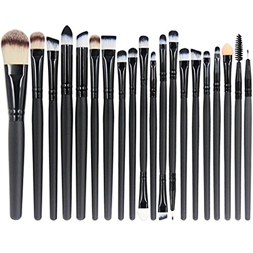 Eyes Lips Face Makeup (Makeup Brushes Set,20 Pieces Makeup Brush Set Professional Face Eye Shadow Eyeliner Foundation Blush Lip Makeup Brushes Powder Liquid Cream Cosmetics Blending Brush Tool)