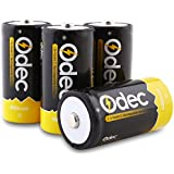 Odec 5000mAh Ni-MH C Rechargeable Batteries, 4 Pack High Quality C Cell Batteries