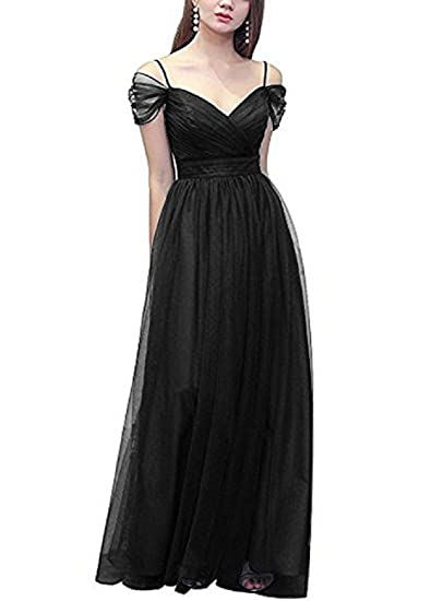 Promlink Women Cold Shoulder Prom Party Dress Long Organza A Line