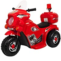 Kid's Ride On Motorcycle, Red - ZH9886-ZR