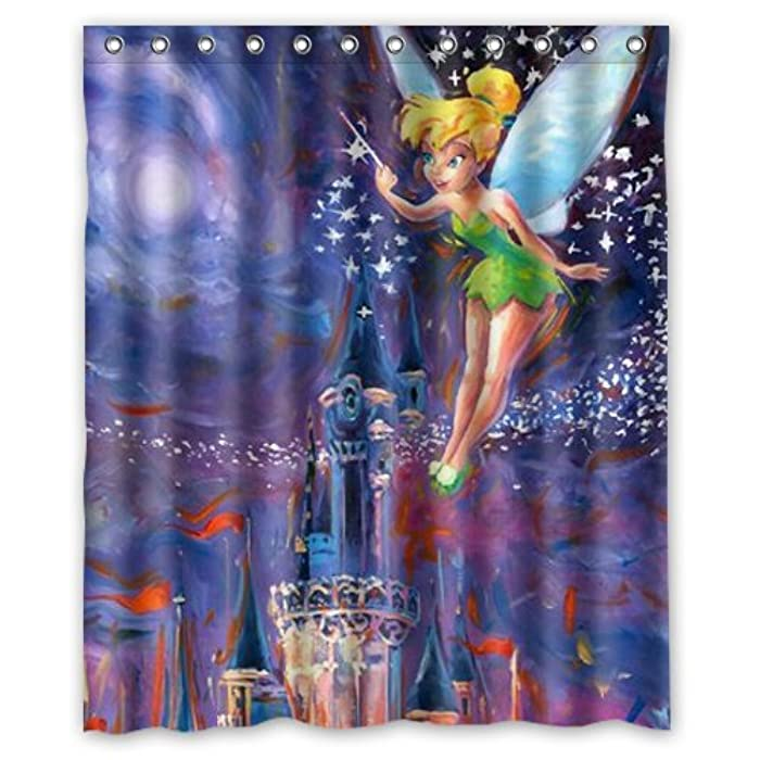 Amazon Peter Pan Tinker Bell Shower Curtain 60x72 Inch Clothing