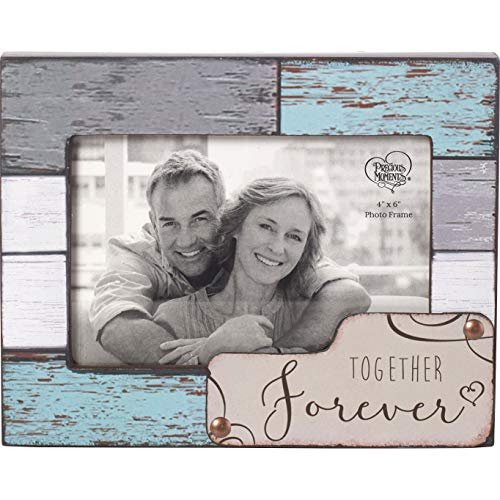 Precious Moments Farmhouse Decor Together Forever Wood/Glass 4 x 6 Photo Frame ()
