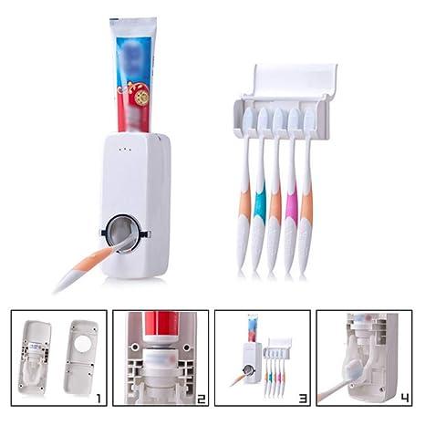 Soporte para cepillos de dientes – pasta de dientes para niños, temporizador automático exprimidor Sticky