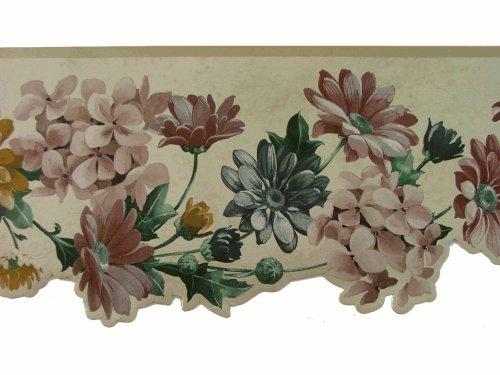 Norwall Die Cut Floral Wallpaper Border Pattern Number: SA75752DW - Floral Die Cut Wallpaper Border