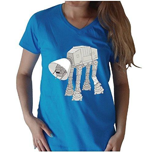 [My Star Wars AT-AT Pet V-Neck (L, Blue)] (Cheap Star Wars Shirts)