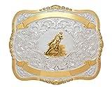 Crumrine Western Belt Buckle Girls Kids Barrel Racer 4 x 5 Gold 384