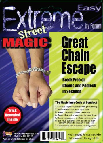 Forum Novelties Extreme Street Magic - Great Chain Escape Trick (Put Together Your Own Halloween Costume)