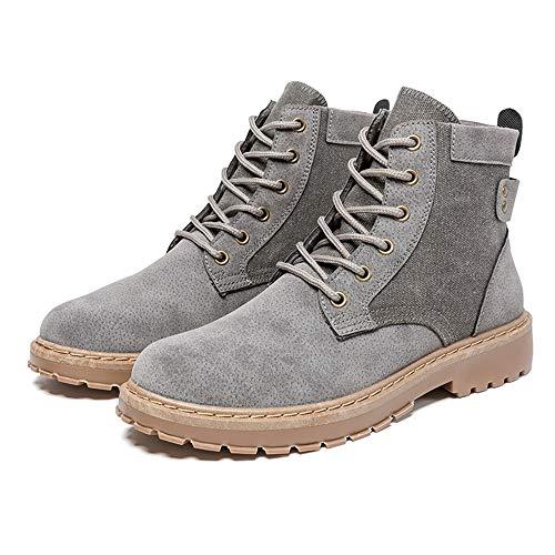 Botas Trabajo Privada De Costura men's Botines Para Moda Gris Hombre Único Casual Shoes Tacón Xhd Básico qCnwT4x8E8