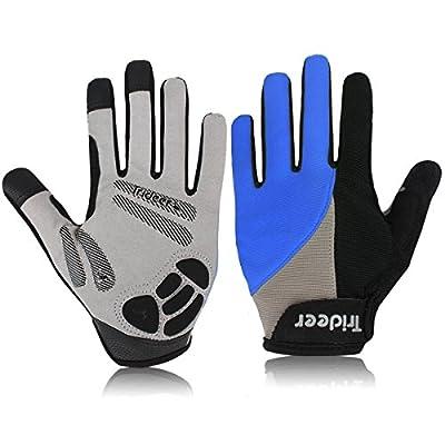 Cycling Gloves (Half Finger&Full Finger) – TRIDEER Ultra Light Breathable Lycra & Anti-Slip Shock - Absorbing Silica Gel Grip, Mountain Road Gloves Biking Gloves Men/Women