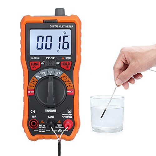 CAMWAY Digital Multimeter 6000 Counts True RMS Auto Ranging NCV AC/DC Voltage Current Resistance Temperature Backlit LCD Multi-Tester Probe & Alligator Clips by CAMWAY (Image #7)