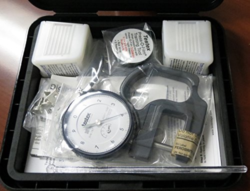 Press -O- Film Replica Tape Kit w/Surface Profile Gauge (mil), 1 coarse & 1 X- Coarse Grade Tape - 1.5 to 2.5 mil by Automation Dr. Nix ()