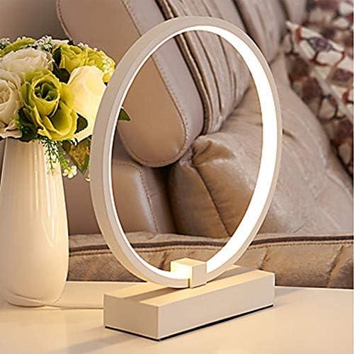 Moderne Minimalistische Ring Tischleuchte Weiß LED Integrierte Metallbasis Hohe Transparente Acryl Lampenschirm Schlafzimmer Umgebungslicht