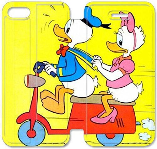 Coque iPhone 5C Coque Cuir, Coque Design By Donald Duck Daisy Klreng Walatina® 5C PU Cuir de portefeuille de l'image de fond Nexus G5V9Yv