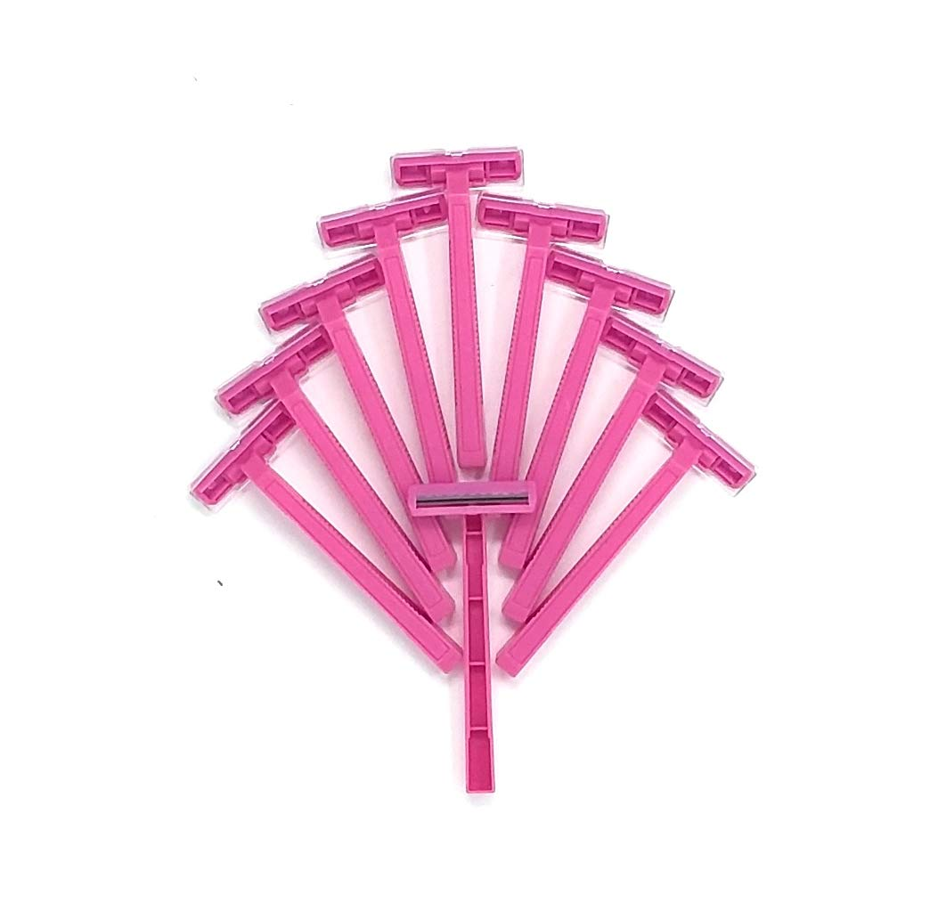 240 DISPOSABLE Pink Twin Blade Razors For LADIES WOMAN For Close Smoother Shave WHOLESALE BULK LOT