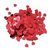 Toyvian Red Table Confetti Heart Shaped Party Confetti for Birthday Wedding Christmas Decoration 30g