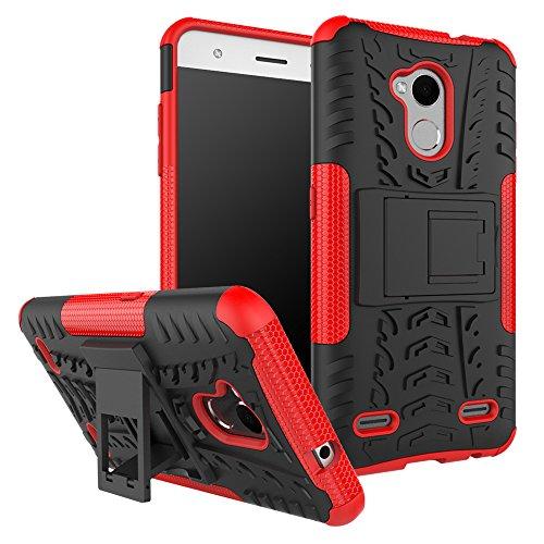 Qiaogle Teléfono Case - Shock Proof TPU + PC Hibrida Stents Carcasa Cover para Xiaomi Mi MIX (6.4 Pulgadas) - HH14 / Negro & Blanco HH10 / Negro & Rojo