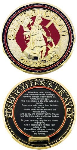 What are firefighter challenge coins?
