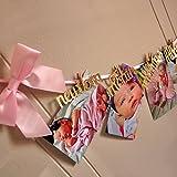 1st Birthday Girl Decorations - 12 Month Photo Banner - Monthly Photo Banner Birthday Garland