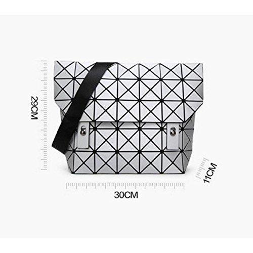 Geometrica Di Rubik Blue Nuova A Cubo Diamante Varietà Opaca Da Donna Tracolla Pieghevole Impunturata Borsa Forma wH8fxI