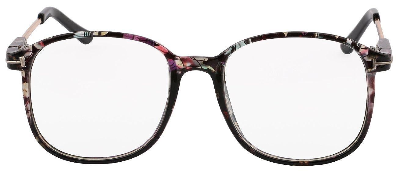 Kissing U Vintage Retro Classic Style Oversized Full Frame Nerd Geek Clear Lens Eye Glasses
