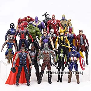 Movie Anime Super Heros Captain Marvel Avengers 3 Infinity war America Ironman Spiderman Hulk Thor Superhero Action Figure Toy